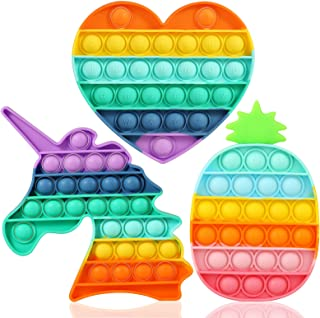 Pop On It Push Unicorn Pop Bubble Fidget Sensory Toys Pack وسایل یادگیری اوتیسم برای اضطراب