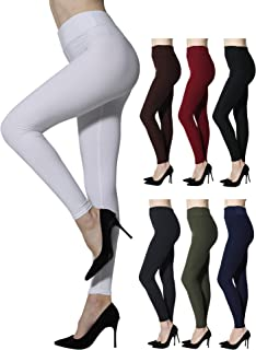 Diravo Leggings for Women High Waist Womens Leggings Yoga Pants Soft Basic Stretch Reg/Plus Full Length
