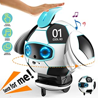 TIKTOK Robots for Kids, 2020 NEW Smart Robot Touch Deformation and Recorder & Voice Change Control Robot Toy, Chirstmas Gifts Talking Singing Dancing 3 4 5 6 7 8 9 year olds and up for Boys Girls