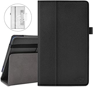 VORI Folio Case for All-New Amazon Fire HD 8 Tablet (8th/7th/6th Generation, 2018/2017/2016 Release), Slim Premium PU Leather Stand Protective Cover with Auto Wake/Sleep, Black