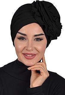 عمامة فورية قطن وشاح رأس لف وشاح للنساء قبعة روز تفاصيل