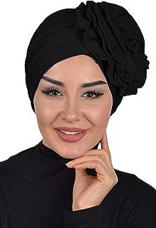 Instant Turban Cotton Scarf Head Wrap Chemo Headwear Cancer Hat Rose Detail