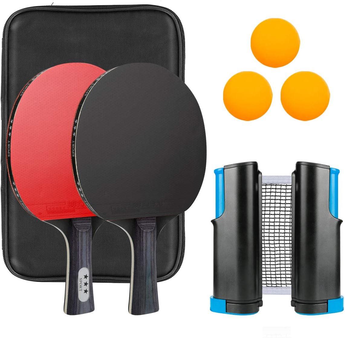 BestFire Ping Pong Paddle, Ping Pong Paddles Set of 2 Pro Ping P