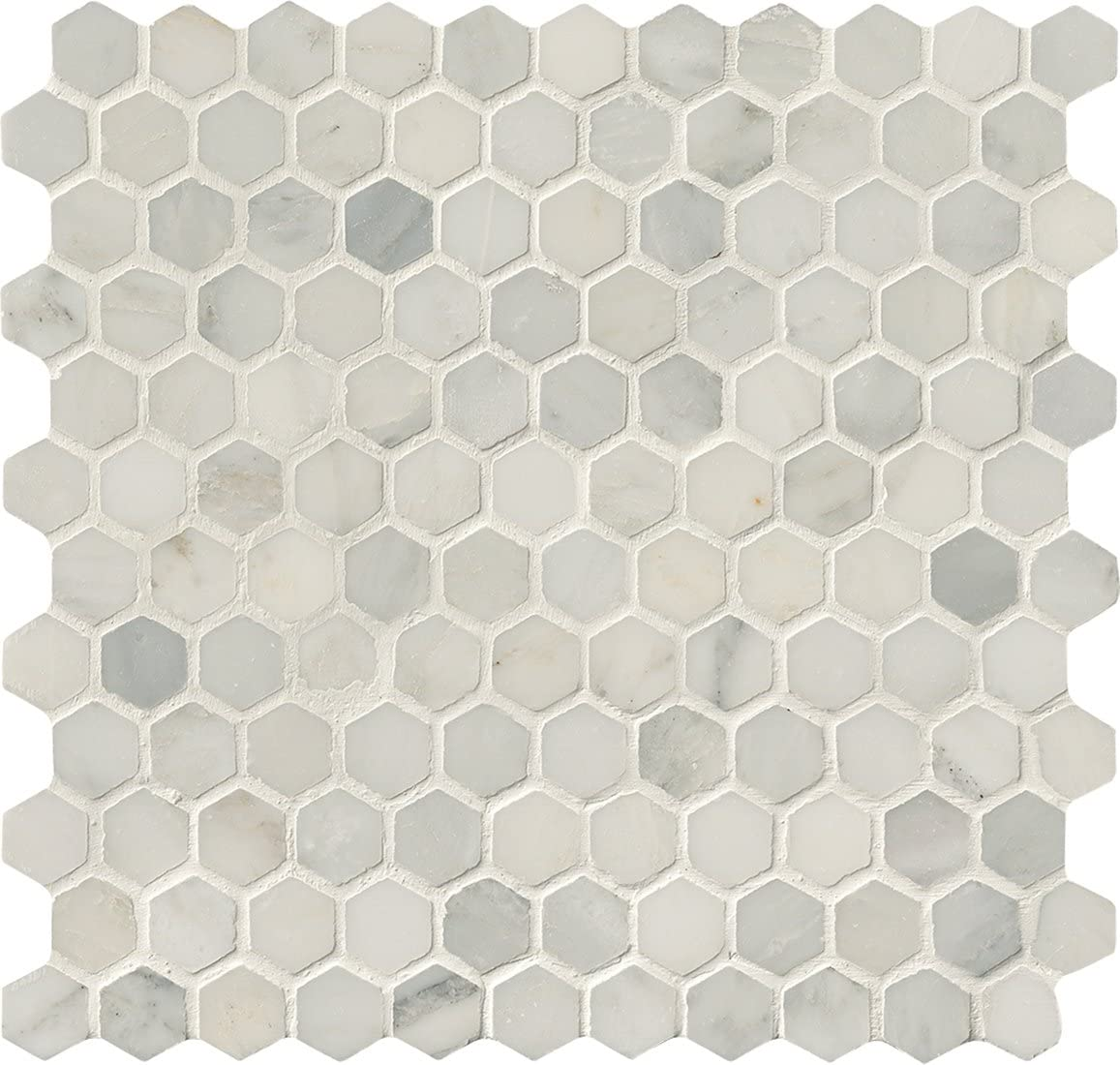 NEW before selling Don't miss the campaign 8.9 Sq. Ft. Case Elegant Luxury in. Modern 12 Hexagon White