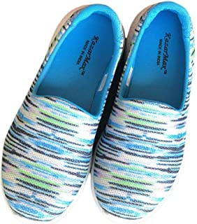 Hopscotch KAZARMAX Mesh Strips Design Mesh Slip On Shoes for Boys and Girls - Blue