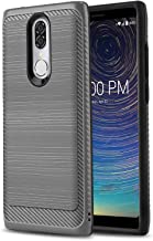 Phone Case for [COOLPAD Legacy (Metro PCS, T-Mobile)], [Modern Series][Gun Metal] Shockproof Dual Layer Hybrid Brushed [Impact Absorption][Defender] Cover for Coolpad Legacy (Metro PCS, T-Mobile)