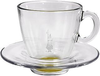 Bialetti RTATZ820Glass Cappuccino Tempered Glass Cup Transparent/Jaune
