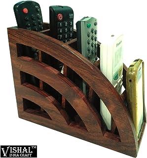 Vishal India Craft Handcraft Wooden Remote Stand