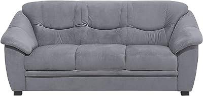 Designer Sofas4u Jupiter Range - Sofá de 3 plazas (Piel ...