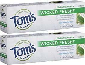 Tom's of Maine Ice Wicked Fresh! Paste, Natural Toothpaste, Toms Toothpaste, Spearmint, 4.7 Ounce, 2 Pack