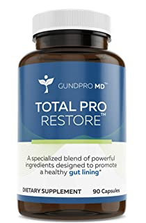 Gundpro MD Total Pro Restore - Totality Complete Restore Revitalize - Maximum Leaky Gut Relief   Total Full Restore for The Gut Lining Support Blend 90 Capsules