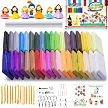 Polymer Clay, Oven Bake Clay 36 Colors Modeling Clay Starter kit, Safe and Nontoxic Soft DIY with Tools and Accessorie