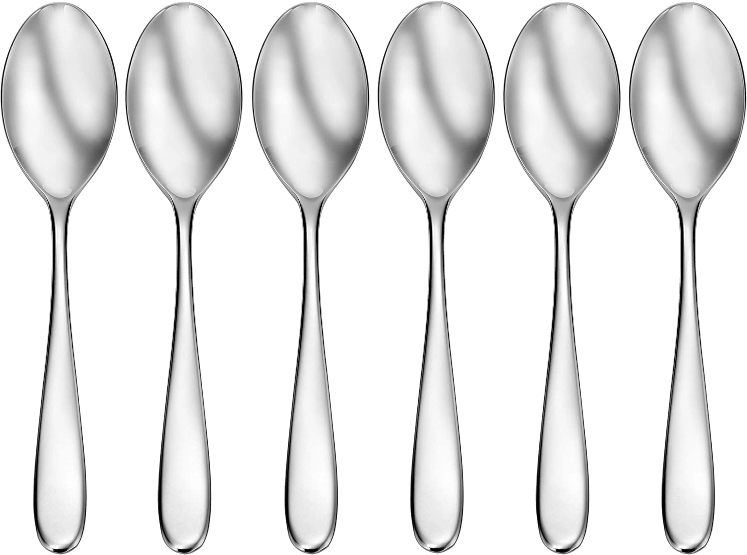 Amazon Com Craftkitchen Open Stock Stainless Steel Flatware Sets Classic Dinner Spoons Set Of 6 Flatware Sets