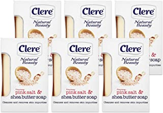 Clere Himalayan Pink Sea Salt and Shea Butter Deep Cleansing Soap – All Natural Moisturizing Bar Soap – Gentle Cleanser 5....