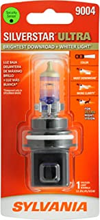 SYLVANIA - 9004 SilverStar Ultra - High Performance Halogen Headlight Bulb, High Beam, Low Beam and Fog Replacement Bulb, Brightest Downroad with Whiter Light, Tri-Band Technology (Contains 1 Bulb)