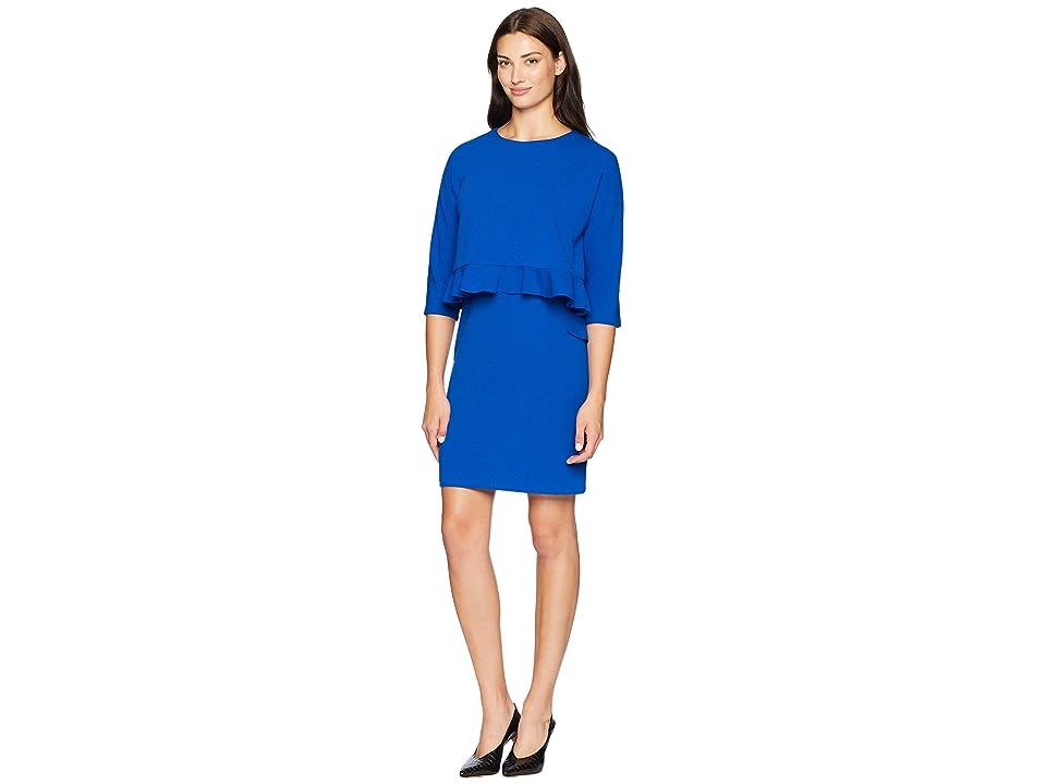 Taylor Popover Ruffle Hem Dress (Royal) Women