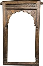 Mogul Interior Antique Indian Arch Huge Archway Hand Carved Rustic Amazing Design Vintage Architecture Wooden Arches Farmhouse Bohemian Decor