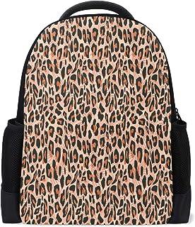 Mochila de viaje con piel de guepardo marrón para ordenador portátil, mochila escolar, de leopardo, para uso al aire libre, negocios, senderismo, camping, para estudiantes, mujeres, hombres