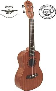 "Juarez JRZ23UK/NA 23"" Soprano Ukulele Kit, Aquila Strings (Made In Italy), Hawaiian Guitar, Rosewood Fingerboard, With Bag And Picks- Natural Brown"