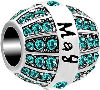 Charmed Craft Jan-Dec Birthstone Charm Beads for Bracelets