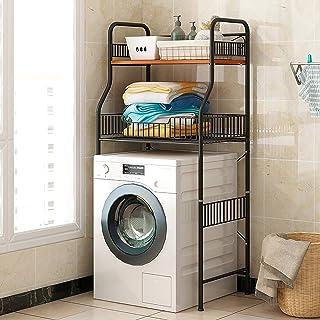 Support De Rangement pour Machine a Laver a 2 Couches - Support De Rangement Utilitaire pour Toilette De Buanderie - Gain ...