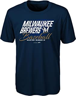 MLB Youth Boys 8-20 Brewers Short sleeve Team Color performance Tee