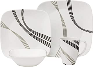 Corelle Boutique Square Urban Arc 16-Piece Dinnerware Set, Service for 4