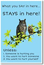 What You Say Stays in Here - NEW School Guidance Counselor Poster
