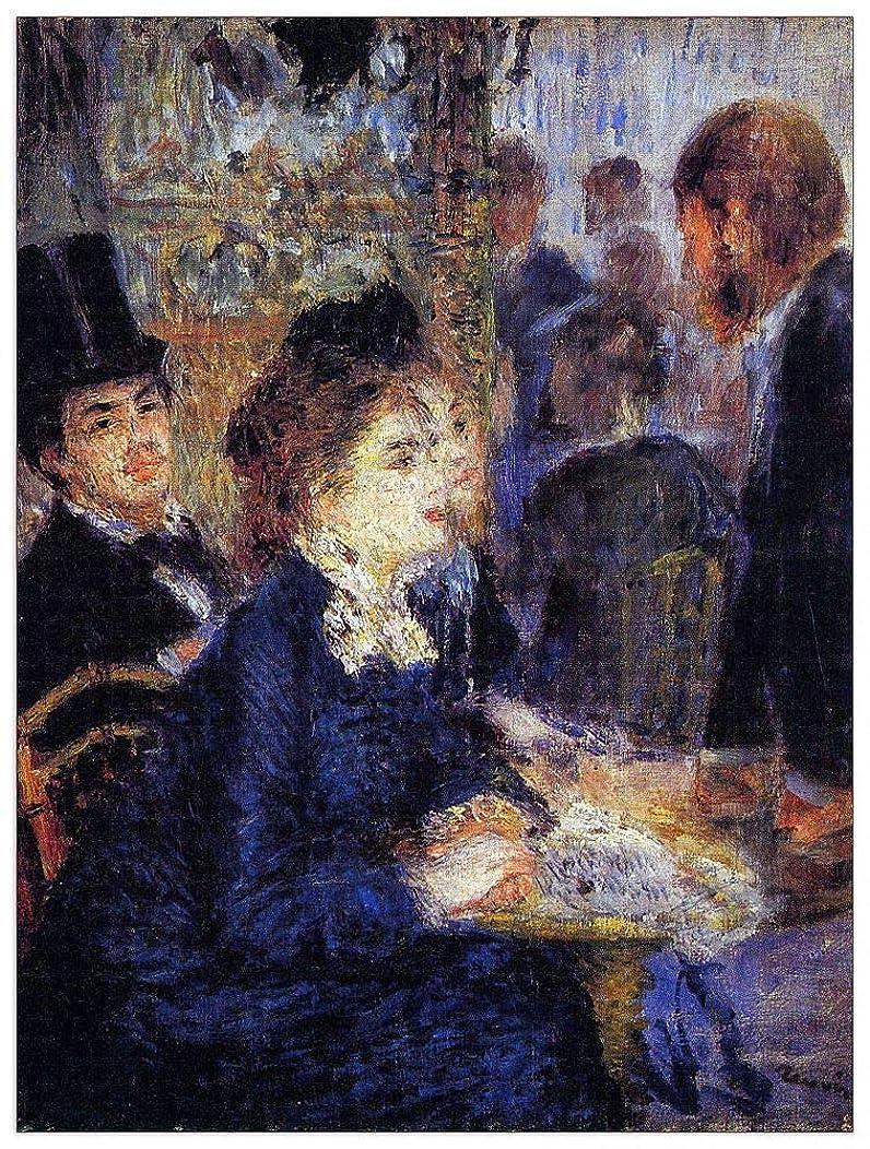 ArtPlaza TW92742 Renoir Pierre-Auguste-in The Cafe Decorative Panel, 27.5x35.5 Inch, Multicolored