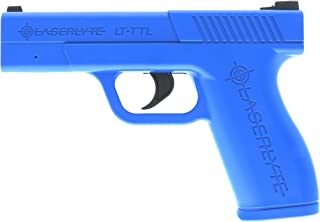 LaserLyte Laser Trainer Pistol Full Size GLOCK 19 familiar size weight and feel RESETTING TRIGGER at 5.5 lb is ready to shoot after every pull FIRES a laser dot when REAL GUN SIGHTS for training