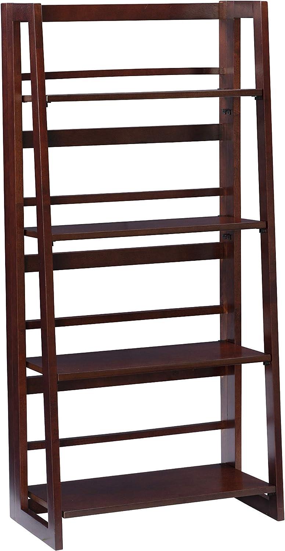 Now free shipping Linon Walnut 4 Be super welcome Shelf Folding Felicia Bookcase