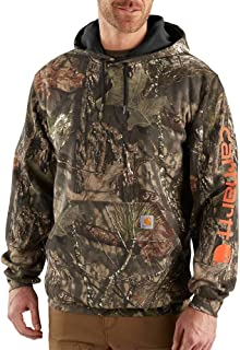 Carhartt Men's Midweight Camo Sleeve Logo Hooded Sweatshirt (Regular and Big & Tall Sizes)