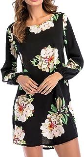 レディース ワンピース お花 きれいめ 膝丈 tシャツ ワンピース 花柄 ドレス 体型カバー Hosam レディース 夏 ファッション 洋服