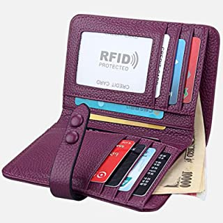 Small Wallets for Women RFID Blocking - Leather Bifold Wallets for Women - Womens Wallets Pink - Ladies Wallets with Coin ...