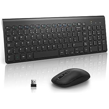 LarySign Tastiera e Mouse Wireless PC Italiano, Kit Tastiera