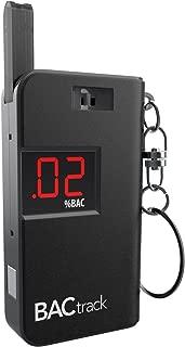 BACtrack Keychain Breathalyzer Portable Keyring Breath Alcohol Tester, Black