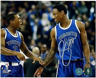 DeMar DeRozan Autographed Photograph - Huskies Kyle Lowry 8x10 - Autographed NBA Photos