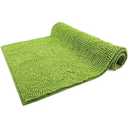 WohnDirect Alfombrilla de baño Verde • Puede combinarse en un Conjunto • Antideslizante y Lavable • Cómoda Y Súper Absorbente – 50x80cm