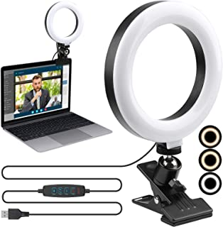 """Video Conference Lighting Kit,ENEGON 6"""" Selfie Ring Light for Video Conferencing, 3 Light Modes&9 Level Dimmable Light wit..."""