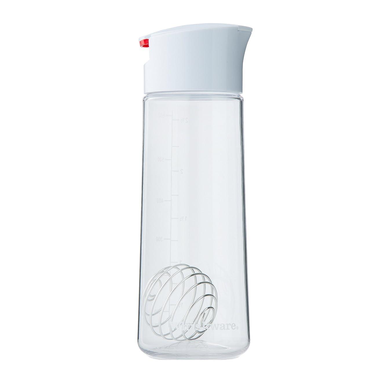 Whiskware Dressing Shaker with BlenderBall Wire Whisk, Tritan - C01396, White
