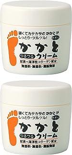 アズマ商事 かかとつるつるクリーム 100g×2個セット 無香料/乾燥した硬いかかとやひじ ひざなど古い角質対策に 旅美人 保湿