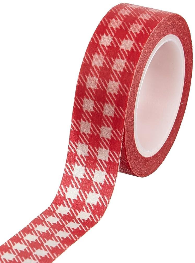 Wrapables Plaid Pattern Japanese Washi Masking Tape, Red Plaid