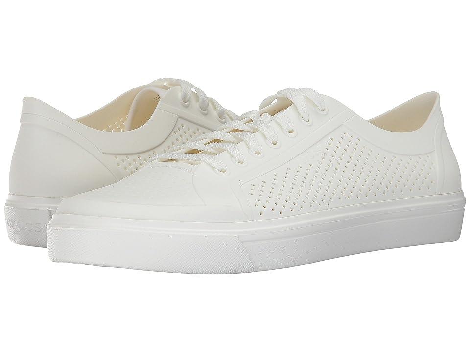 Crocs CitiLane Roka Court (White/White) Lace up casual Shoes