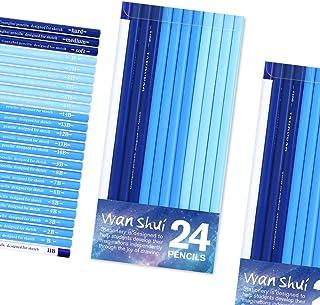 スケッチ鉛筆 24本プロ用スケッチアートデッサン鉛筆セットファインポイントの芯グラファイト鉛筆とチャコール鉛筆のセットアーティスト仕様のシェーディング用