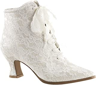 Ladies Victorian Lace Boots Ivory Wedding Boots Funtasma 30