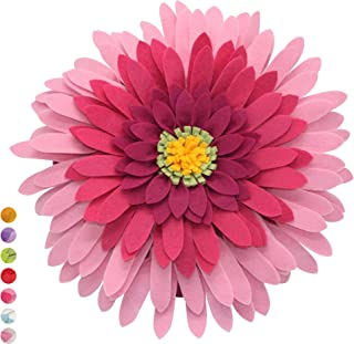 Flower Decorative Pillow - 3D Daisy Flower Pillow, Sunflower Throw Pillow -14.5 x 13 inch Round Decor Pillow - Flower Home Decorations - Couch & Bed Flower-Shaped Pillow (Case Only, Fuchsia)