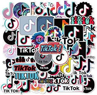 50PCS Fun TikTok Stickers Stickers, Trendy Vinyl Waterproof Water Bottle Stickers for Laptop Cups Phone Case Computer Wate...