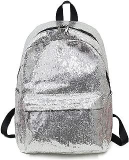 Glitter Women Sequin Backpacks Bling Fashion NEW School Bag Silver