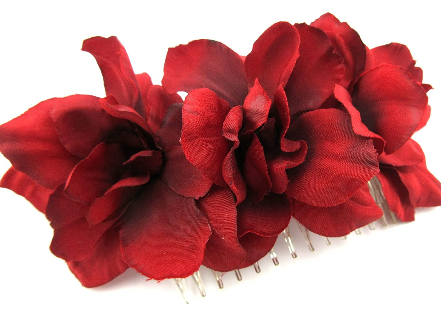Triple Red Apple Blossom Silk Hair Comb Popularity Ranking TOP13