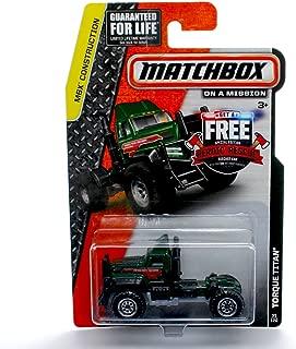 TORQUE TITAN (Dark Green) * MBX Construction * 2014 Matchbox on a Mission Basic Die-Cast Vehicle (#35 of 120)